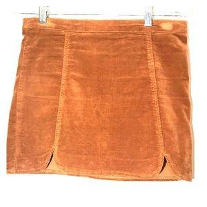 Rust suede Brandy Melville Skirt